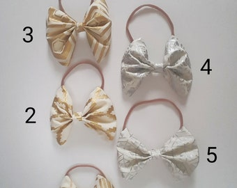 bow on nylon headband
