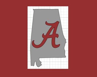 University of Alabama Decal, Alabama Decal, Crimson Tide Decal