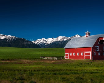 Wallowa Farm | Oregon Landscape Photography, Pacific Northwest, Fine Art, Landscape Photography, Wall Decor, Oregon Photography, Sunrise