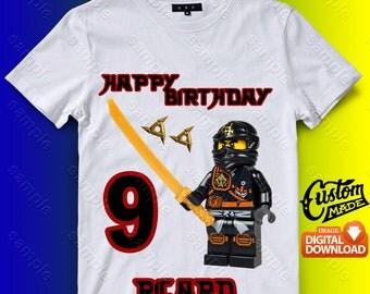 Ninjago Iron On Transfer, Ninjago Birthday Shirt DIY, Ninjago Shirt Designs, Ninjago Printable, Ninjago, Personalize, Digital Files