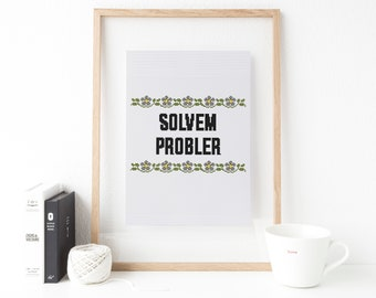 Solvem Probler, funny cross stitch pattern Problem solver