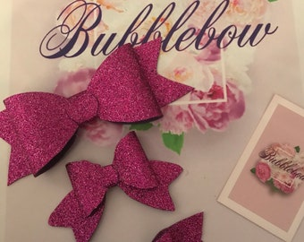 Hot pink glitter bow collection