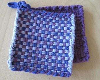 hand woven potholders
