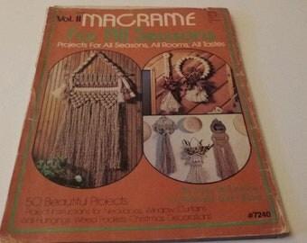 Macrame For All Seasons Vol. II Macrame