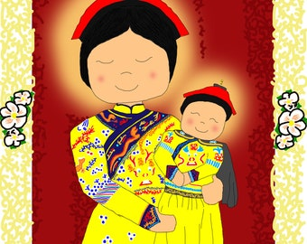 Our Lady of China Artwork for Young Children