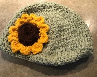 Girls sunflower hat