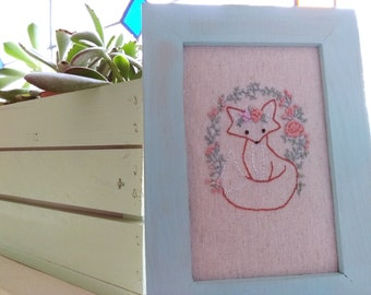 Embroidered with frame
