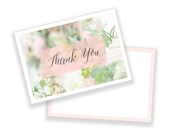 Classic Thank You Note - Customizable Template or Ready to go As Is. Digital Download.