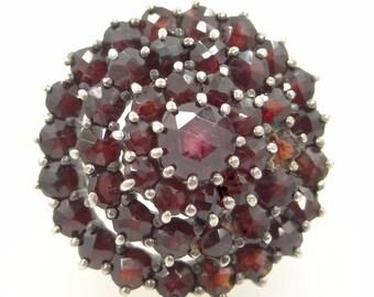 Multi Layered Genuine Garnets Lady's Ring