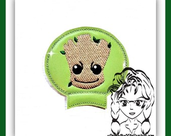 Baby TREE GaLAXY Ear (Add On ~ 1 Pc) Mr Miss Mouse Ears Headband ~ In the Hoop ~ Downloadable DiGiTaL Machine Embroidery Design by Carrie