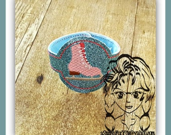 ICE SKaTE WRiSTBaND ArM CaNDY Snap Tab 4 Holidays Birthday ~ In the Hoop ~ Downloadable DiGiTaL Machine Embroidery Design by Carrie