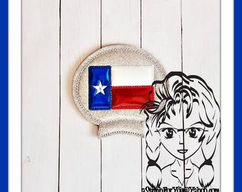 TEXAS FLaG Ear (Add On ~ 1 Pc) Mr Miss Mouse Ears Headband ~ In the Hoop ~ Downloadable DiGiTaL Machine Embroidery Design by Carrie