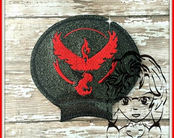 VALOR Team POKE GAME Ear (Add On ~ 1 Pc) Mr Ms Mouse Ears Headband ~ In the Hoop ~ Downloadable DiGiTaL Machine Embroidery Design by Carrie