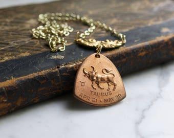 Taurus Horoscope Zodiac Astrology Necklace | The Bull Celestial Sign