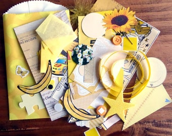 Yellow - Paper Ephemera Kit