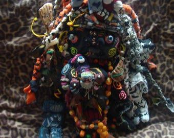 Vodou Inspired Fabric AltarDoll Shaman JuJu Darkmoon