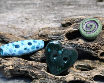Mixed Set of Porcelain Beads