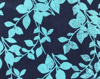 """NEW! """"Totally Totable"""" Weighted Lap Blanket - Adult or Child - Turquoise Foliage on Blue - Choose your weight and minky color"""