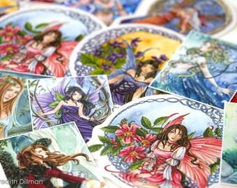 Fairy Art and ACEO Sticker Grab Bag | fantasy art | vinyl stickers | ACEO | Art print | Fairy print | Stocking Stuffer | Anime Fairy