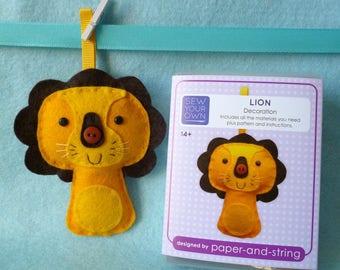 Lion Mini Kit - Felt sewing kit