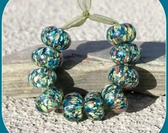 Cobblestone lampwork bead set