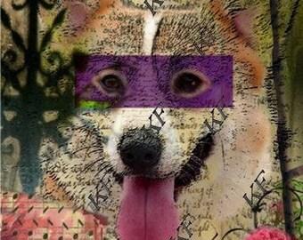Pop Art Corgi Dog 2 - 5x7 - Instant Download