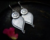 mehndi petals ... sterling silver earrings
