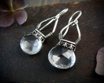 quartz crystal lantern earrings