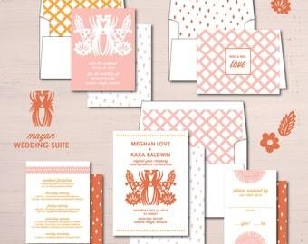 Mayan Wedding Invitations Suite Package