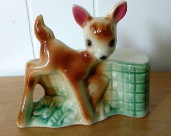 vintage ceramic deer night light holder