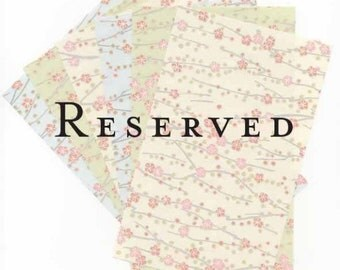 RESERVED for LISA - Kingin white text weight paper
