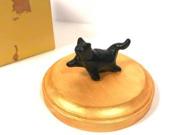Black Cat Sculpture with base #1