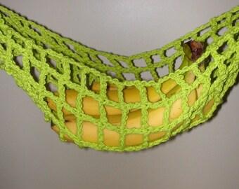 Banana Hammock, Fruit Hanger, Holder, Net, Lime