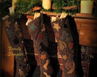 Family Sampler Stocking only, printed pattern