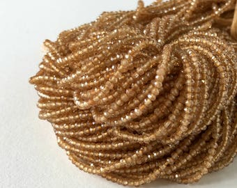 Citrine Beads, Full 13 inch Strand  - 2mm Faceted Citrine Bead Strand- Item 504