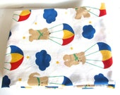 Vintage cotton fabric for children Teddy Bears Floating Thru the Sky 1987 Cohama/Riverdale