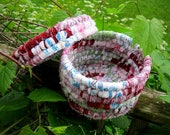 SPECIAL ORDER reserved for Eileen COVERED   hand coiled textile art   basket with lid