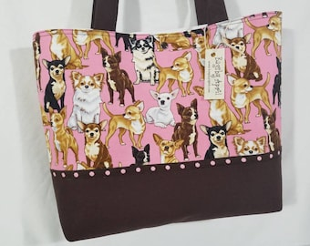 Chihuahua Dogs purse tote bag