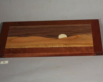 mountain moonrise cutting or serving board #11