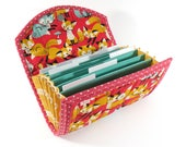 Reserved for Laura - COUPON / EXPENSE / RECEIPT Organizer - Red Fox - Coupon Organizer Coupon Holder Cash Budget Organiser Teal
