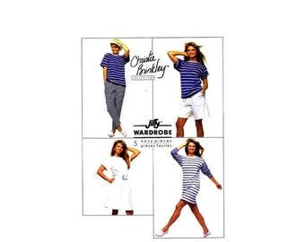 SALE Christie Brinkley Dress Top Pants Shorts Skirt Simplicity 9112 Vintage Sewing Pattern Size 14 - 16 Bust 36 - 38 UNCUT