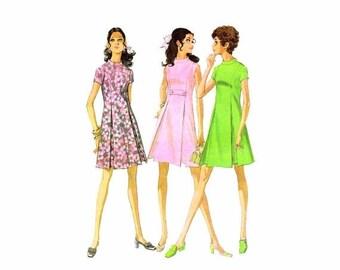 SALE 1960s Misses Princess Seam Dress McCalls 9705 Vintage Sewing Pattern Size 12 Bust 34 Uncut