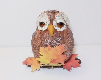 You're a Hoot Owl figurine: Polymer clay owls