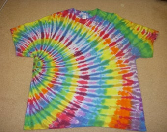 2X tie dye t-shirt, side switl, 2XL