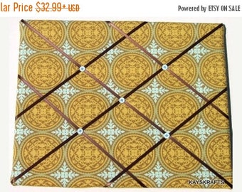 Christmas In July 30% Off Ochre Ironwork Memory Board French Memo Board, Ribbon Pin Board, Fabric Ribbon Memo Bulletin Board, Bedroom Decor,