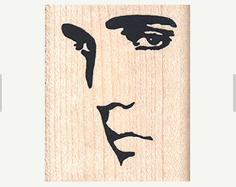 Elvis rubber stamp  face stamps Rubber Stamp  new, old stock stamp, no longer produced