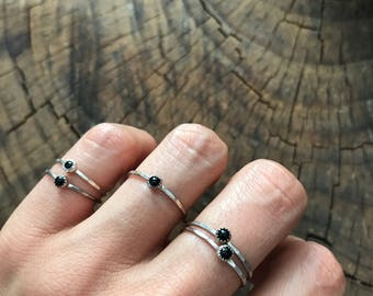 SALE Basin Onyx Stacking Ring