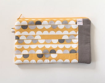 zipper pouch, cash envelope, Eyeglass case, Pen pencil, cash wallet, Cosmetic makeup case, Mustard yellow, bag, sunglasses case, Gray purse