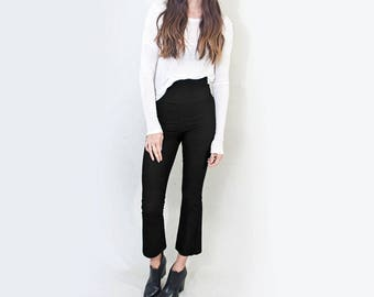Bohemian Cropped Flares • Women's Minimalist Flared Pants • High Waisted Pant • Tall Length • Loft415 Clothing (No. 33)