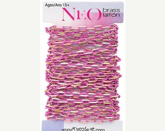 Summer Sale Neo 5mm x 3mm Link Neo Pink Chain -  2 Meters - 130102h